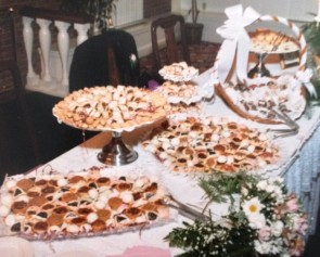 Cookies made by Mama Iuliano for a recent Audubon Springs Wedding