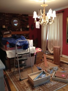 The Clutter in my Dining Room last April when my Kitchen was being remodeled